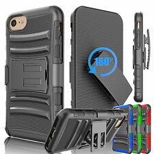 For Apple iPhone 6 6S 7 Plus Shockproof Armor Phone Case Clip Holster Hard Cover
