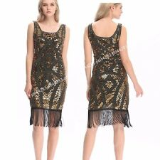 USA 1920s Flapper Dress Beads Sequin Fringe Great Gatsby Charleston Dress Outfit