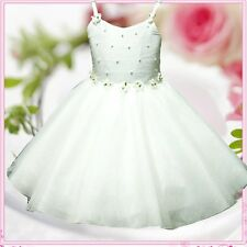 Kids Girl Off Whites Wedding Party Flower Girls Dresses SIZE 2-4-5-6-7-8-10-12Y