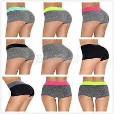 Women Sport Tights Shorts Waistband Hot Pants Workout Fitness Gym Yoga Trousers