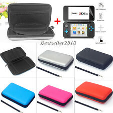 For Nintendo 2DS XL EVA Hard Carrying Case Bag Cover +2Pcs HD Screen Protector