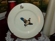 DELAND PLATE FLYING BIRD NEAT, HEAVY GOLD BAND HAND PAINTED. FROM WATER COLOR