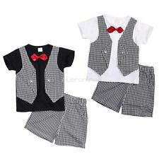 2Pcs Newborn Baby Boy Kids Outfits Summer T-shirt Short Pant Clothes Set Fashion