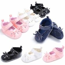 Newborn Baby Girl Butterfly Hollow PU Leather Sandals Soft Crib Sole Beach Shoes