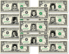 Celebrity on REAL Dollar Bill Money Cash Collectible Memorabilia Novelty Bank W1