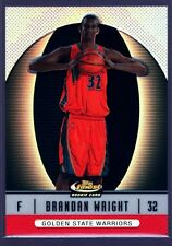 BRANDAN WRIGHT /399 $20+ WARRIORS ROOKIE RED REFRACTOR RC 2007-08 FINEST UNC GEM