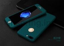 New Green 360 Full Body Hybrid Hard Cover + Temper Glass Case For iPhone 6 6S 7