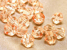 6mm 200/400/600/800/1000pcs SALMON FACETED ACRYLIC PLASTIC BICONE BEADS TY2988