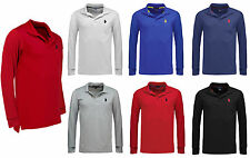 Mens US Polo Assn Long Sleeve Polo Shirt Top