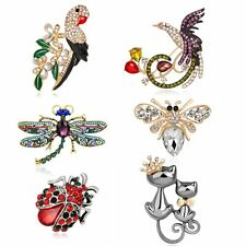 Animal Crystal Brooch Pins Women Fashion Jewelry Colorful Wedding Gifts Clothing