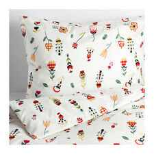 IKEA Rosenfibbla Duvet Cover Set Swedish Cottage Floral Twin Full Queen King