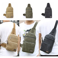 Outdoors Mens Military Backpack Hiking Messenger Crossbody Canvas Shoulder Bag