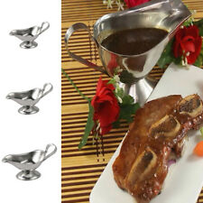 Stainless Steel Gravy Boat Steak Sauce Juice Pouring Tool Silver 3oz/5oz/8oz