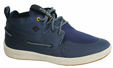 Sperry Gamefish Mukka Navy Lace Up Textile Mid Top Trainers STS49136 U81