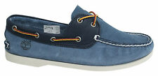 Timberland 2 Eye Classic Leather Blue Lace Up Mens Boat Shoes A13WG D5