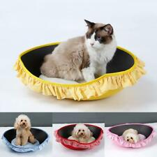 Pet Dog Cat Bed Round Basket Soft Puppy Cushion House Warm Kennel Dog Mat Pad