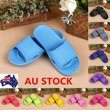 AU Women Men Bathroom Slippers Indoor Shower Slides Home Soft  Anti-slip Shoes