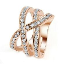 Martha Rose Exquisite Rose Gold Plated Eternity Ring