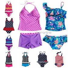 Kids Girls Two Piece Summer Halter Bikini Set Tankini Swimwear Bathing Swimsuit
