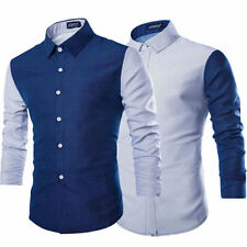 Fashion Men's Luxury Casual Slim Fit Stylish Formal Dress Shirts Long Sleeve