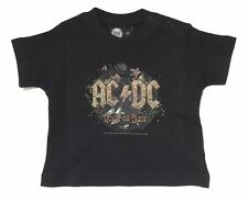 AC/DC Rock Or Bust Infant Baby Black T Shirt New Official Merchandise Metal Kids