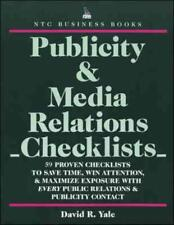 PUBLICITY & MEDIA RELATIONS CHECKLISTS - NEW PAPERBACK BOOK