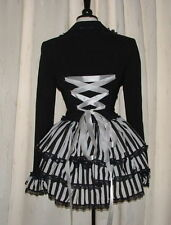 corset jacket coat black white bustle gothic victorian steampunk quirky frock