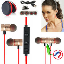 Red -ZH56 Magnetic Bluetooth Handsfree Headset Earphone For Cell Phone HuaWei