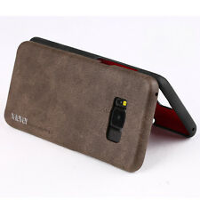 Luxury Vintage Leather Case Slim Back Cover Skin For Samsung Galaxy iPhone LG
