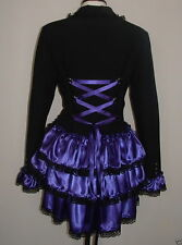 corset jacket coat black purple bustle gothic victorian steampunk quirky frock
