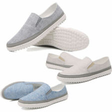 Fashion Men Flats Loafers Slip On Canvas Sneakers Driving Casual Boat Shoes