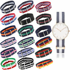 Nylon Wrist Watch Band Strap Unisex Infantry Military Army Fabric Buckle 18-22mm