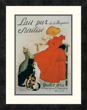 'Lait pur Sterilise' by Theophile Steinlen Framed Vintage Advertisement