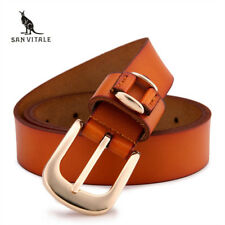 women's brand new retro real Leather Belt Buckle 100% pure leather belt