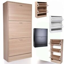 2 3Drawer Shoe Cabinet Storage Cupboard Footwear Stand Rack Wooden Top Quality H