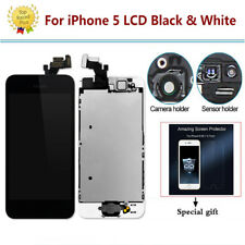 For iPhone 5 5GLCD Touch Screen Digitizer Replacement+Home Button+Camera+Speaker