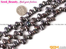 """5-6x7-8mm Freeform Freshwater Cultured Side Hole Pearl Gemstone Loose Beads 15"""""""