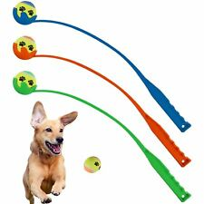 Pet Dog Tennis Ball Launcher Chucker Thrower Training Exercise Outdoor Fetch Toy