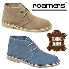 "Roamers ""Bella"" Ladies Suede Desert Boots Casual Womens Leather Combat Shoes"