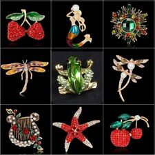 Elegant Dragonfly Flower Animal Crystal Brooch Pin Jewelry Women Wedding Bridal
