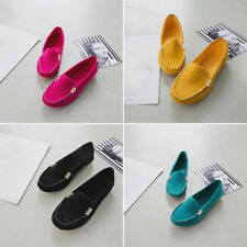 Womens Ladies Casual Soft Ballerina Moccasin Suede Slip On Flat Loafer Shoes Hot