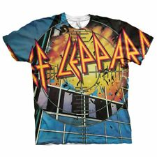 Official Licensed Men's Def Leppard Pyromania All Over Print T-Shirt Sizes s-XXL