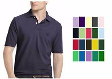 NEW IZOD Mens Solid Short Sleeve Pique Polo Shirt Sz S M L XL 2X 3X  270014RM