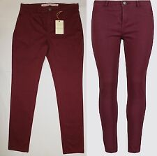 M&S Indigo Coll Cotton Rich Brushed Skinny Leg Trousers Jeggings BNWT 12 Short