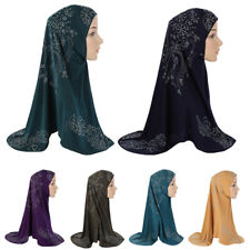 Muslim One Piece Hijab Islamic Hot Drilling Scarf Al Amira Headscarf Women Hijab