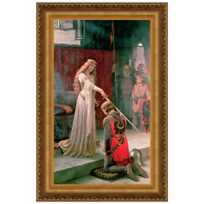 Design Toscano The Accolade, 1901 by Edmund Blair Leighton Framed Painting Print