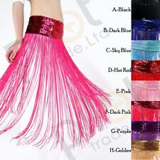 New Belly Dance Costume Tribal Tassel Hip Scarf Wrap Festival Fringes Belt Skirt