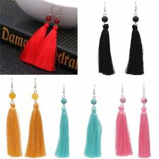 Fashion Boho Beaded Tassels Hook Fringe Dangle Drop Earrings Women Lady Jewelry