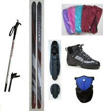 NEW EXPLORER XC cross country NNN SKIS/BINDINGS/BOOTS/POLES PACKAGE - 180cm