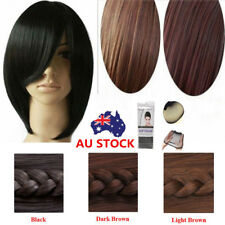 Fashion Short Wig Black Brown Straight Party Cosplay Women's Hair 30cm Wig + Cap